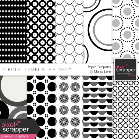 Circle Paper Templates 11-20 Kit