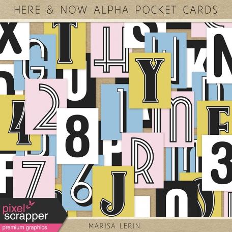 Here & Now Alpha Pocket Cards Kit