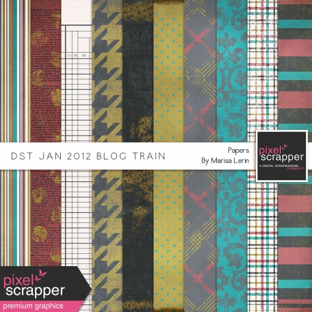 DST January 2012 Blog Train Papers Kit