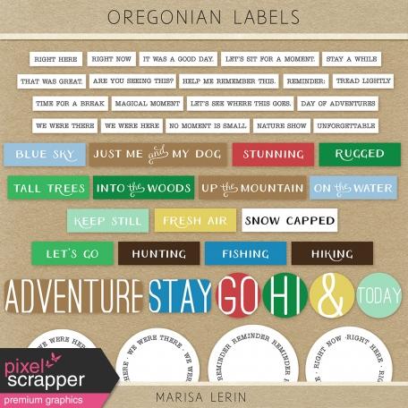 Oregonian Labels Kit