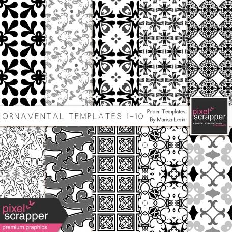Ornamental Paper Templates 1-10 Kit