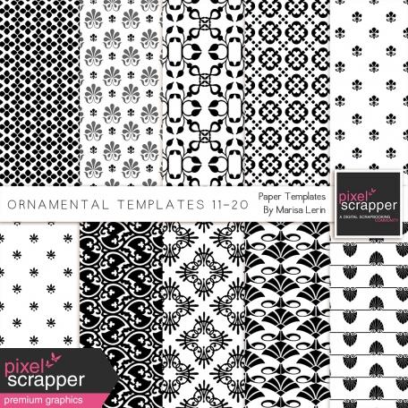Ornamental Paper Templates 11-20 Kit