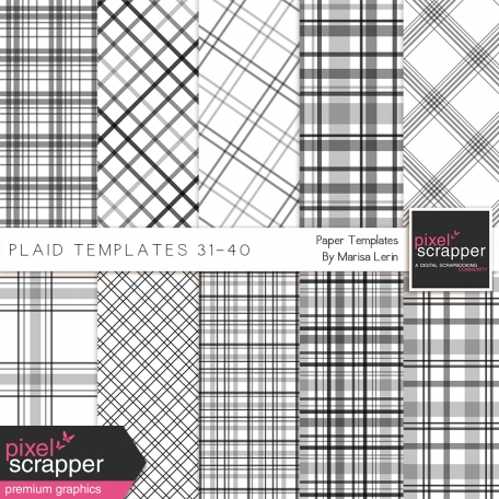 Plaid Paper Templates 31-40 Kit