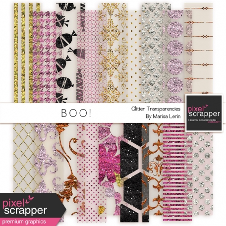 Boo! Glitter Transparencies Kit