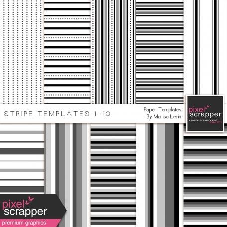 Stripe Paper Template Kit (01-10)