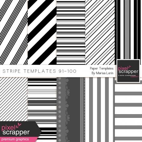 Stripe Paper Template Kit (91-100)