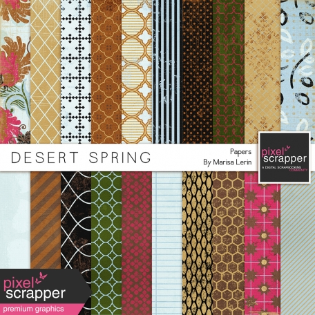 Desert Spring Papers Kit