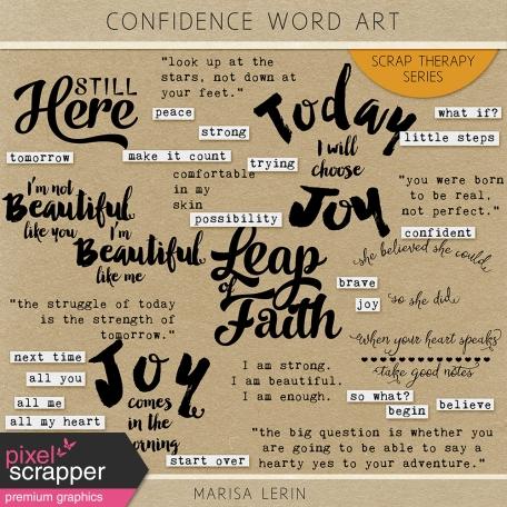 Confidence Word Art Kit