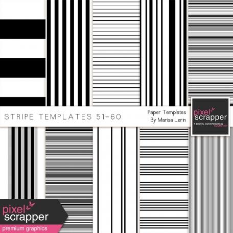 Stripe Paper Template Kit (51-60)