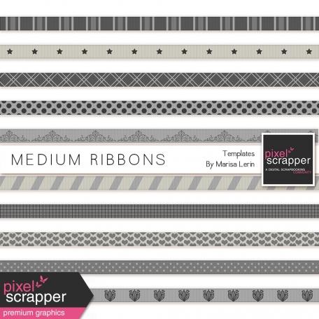 Medium Ribbon Templates