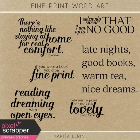 Fine Print Word Art Kit