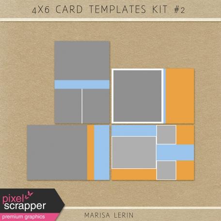 4x6 card templates kit 2 by marisa lerin graphics kit pixel scrapper digital scrapbooking. Black Bedroom Furniture Sets. Home Design Ideas