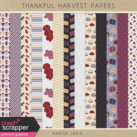 Thankful Harvest Papers Kit
