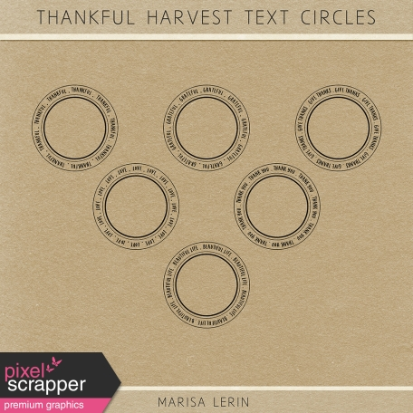 Thankful Harvest Text Circles