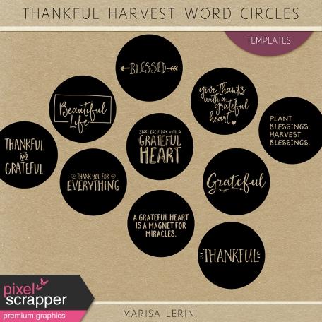 Thankful Harvest Word Circle Templates Kit