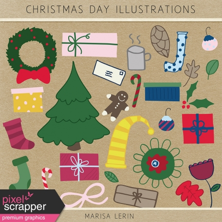 Christmas Day Illustrations Kit