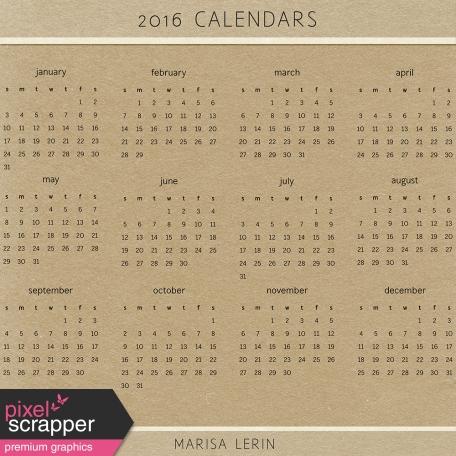 2016 Calendars Kit