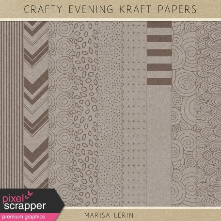 Crafty Evening Kraft Papers Kit