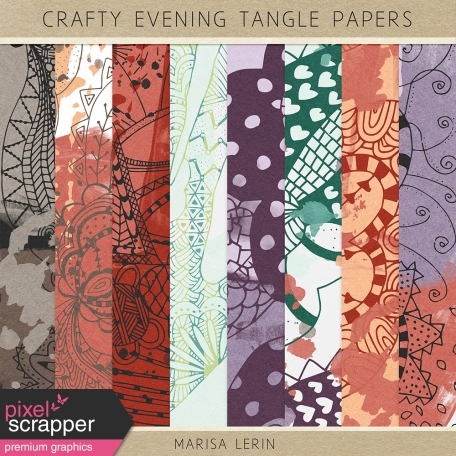 Crafty Evening Tangle Papers Kit