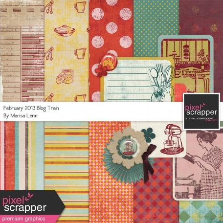 Pixel Scrapper Feb Blog Train