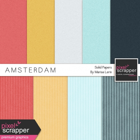 Amsterdam Solid Cardboard Papers Kit