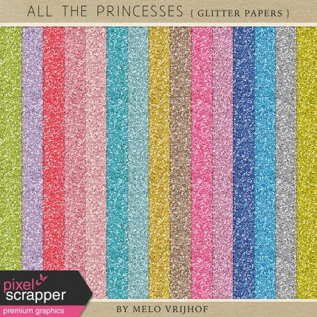 All The Princesses - Glitter Papers