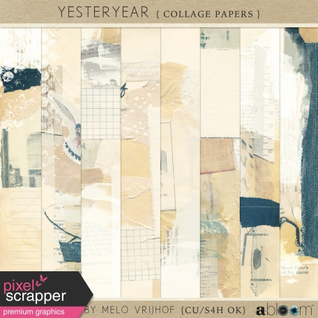 YesterYear - Collage Papers