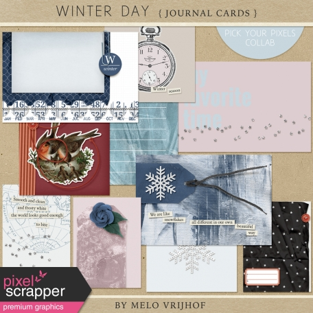 Winter Day - Journal Cards