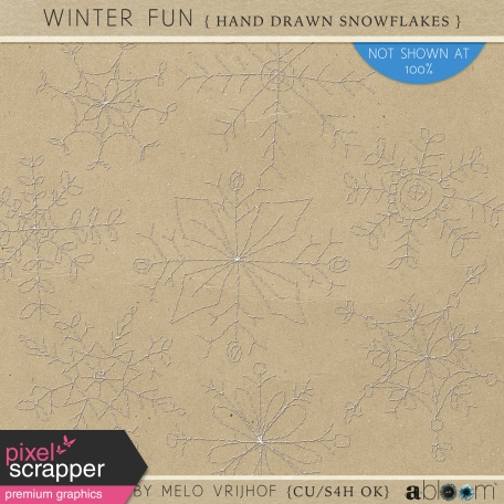Winter Fun - Hand Drawn Snowflakes