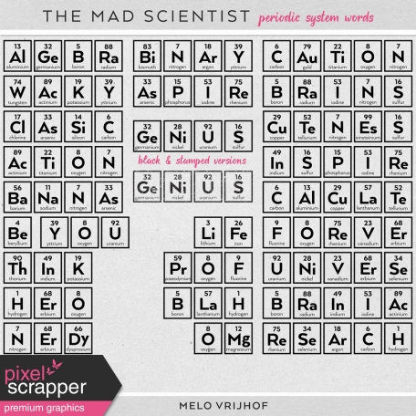The Mad Scientist - Periodic System Words