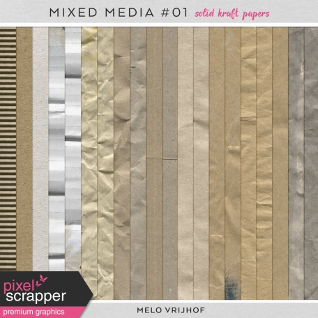 Mixed Media 1 - Solid Kraft Papers