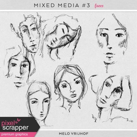 Mixed Media 3 - Faces