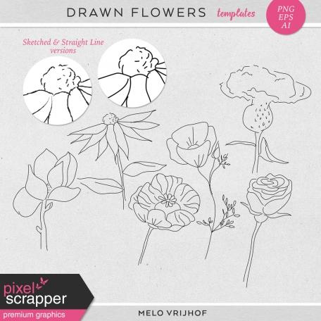 Drawn Flowers - Templates