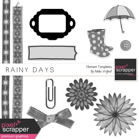 Rainy Days Element Templates Kit