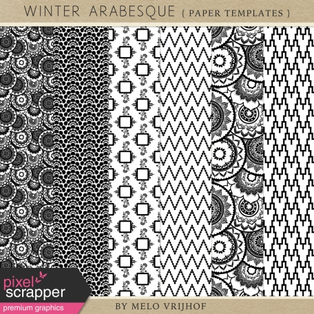 Winter Arabesque - Paper Templates
