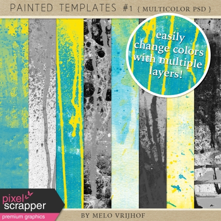 Painted Paper Templates #1 - Multicolor