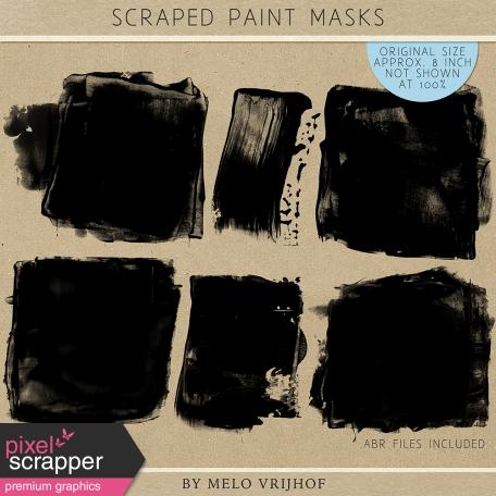 Scraped Paint Masks