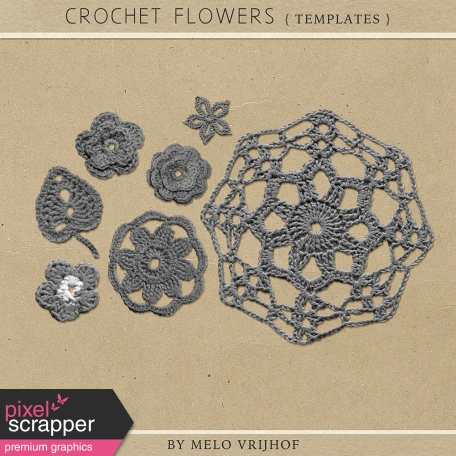 Crochet Flowers - Templates