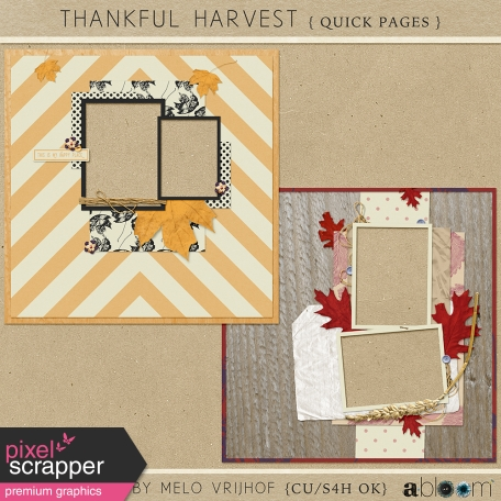 Thankful Harvest - Quick Pages