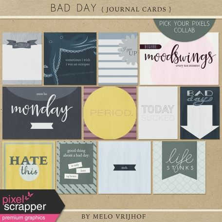 Bad Day - Journal Cards