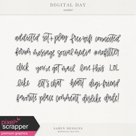 Digital Day Wordarts