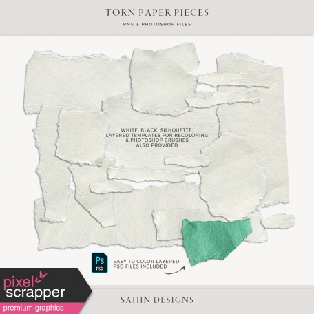 Torn Paper Pieces