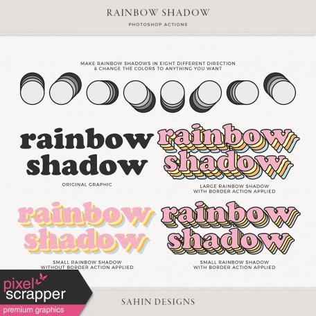 Rainbow Shadow Photoshop Actions