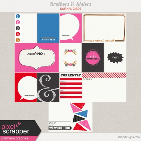Brothers And Sisters Journal Cards Kit