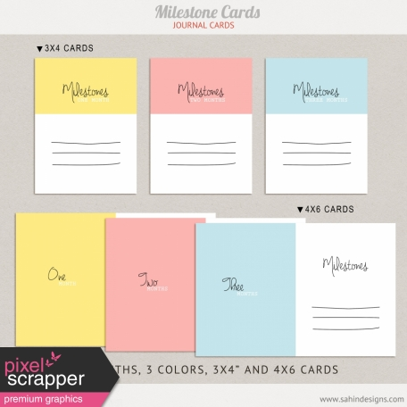 Oh Baby Baby Milestones Journal Cards