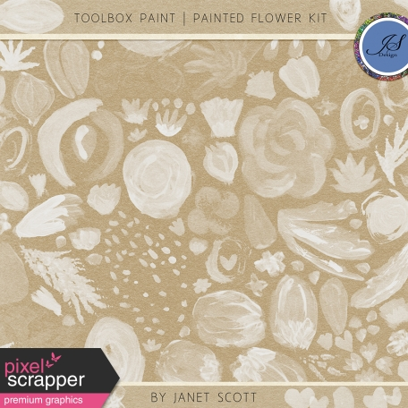 Toolbox Paint - Painted Flower Kit