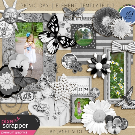 Picnic Day - Element Template Kit