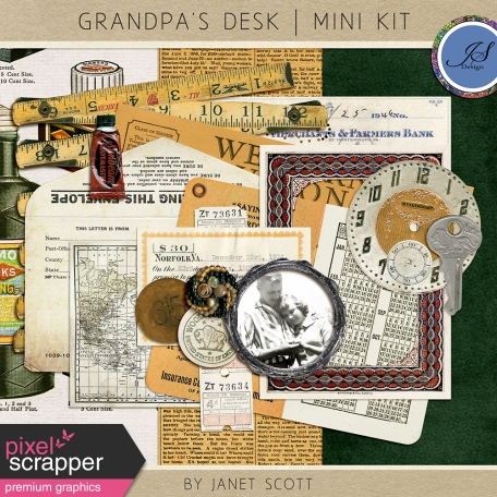 Grandpa's Desk - January 2016 Blog Train Mini Kit