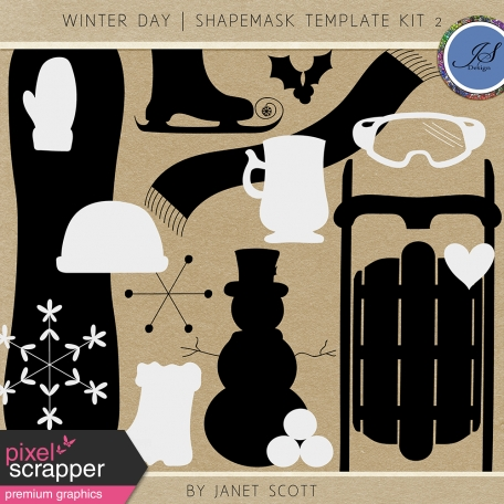 Winter Day - Shape Mask Kit 2