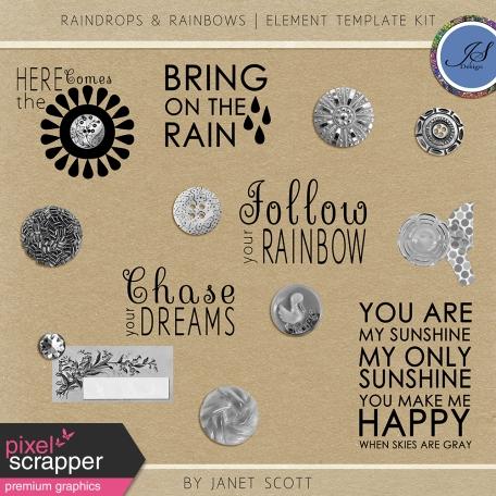 Raindrops & Rainbows - Element Template Kit